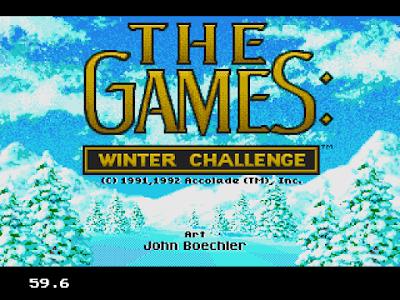 【MD】冬季奧運會高山滑雪(Winter.Challenge),好玩體育競技遊戲!