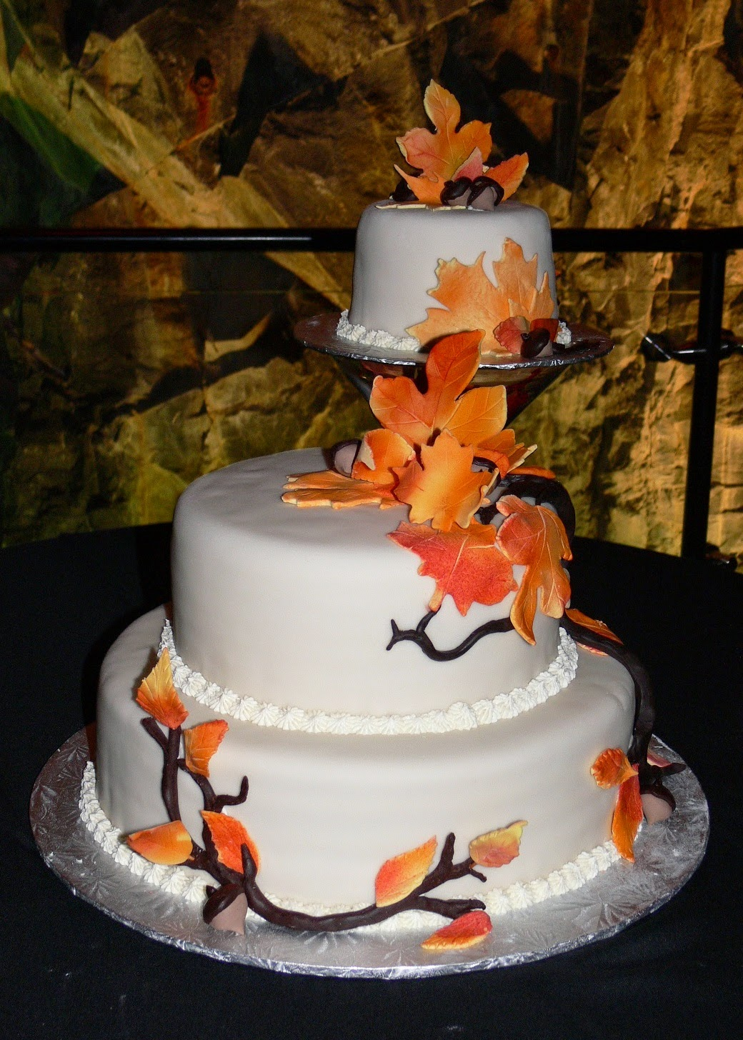 Ultimately Chocolate Cakes Fall Themed Cakes Split Three Tier