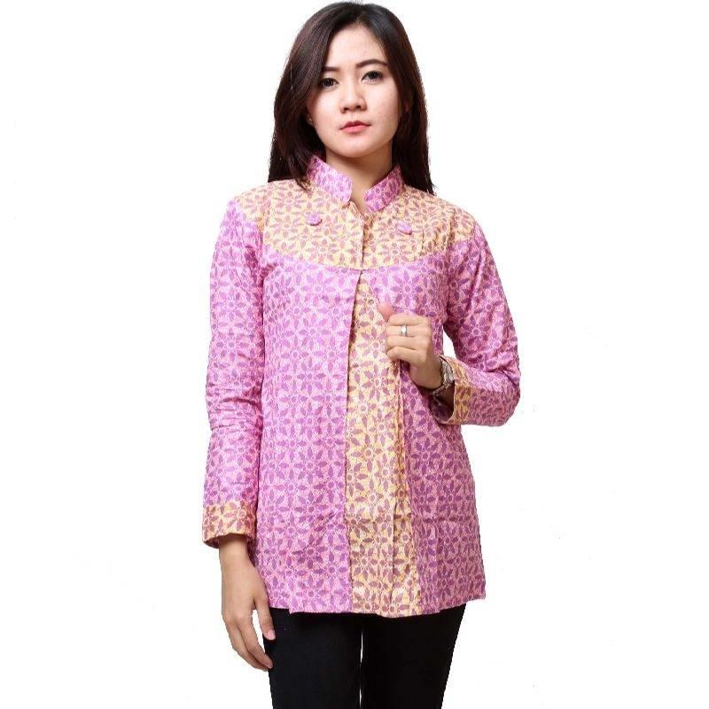Model Baju Batik Lengan Panjang Modern: 15 Batik Kerja Modern Lengan Panjang 2018, Update!