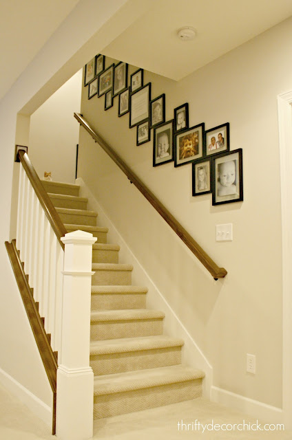 Gallery wall on staircase