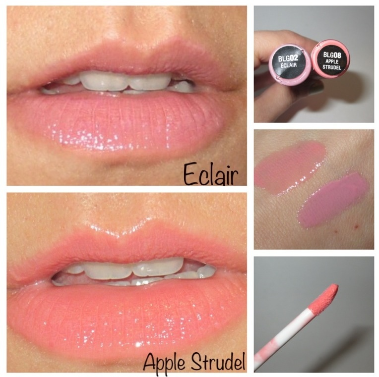 Beauty Cents Nyx Butter Gloss In Eclair And Apple Strudel Swatches