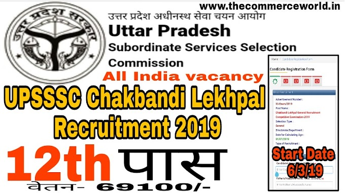 UPSSSC Chakbandi Lekhpal Recruitment 2019