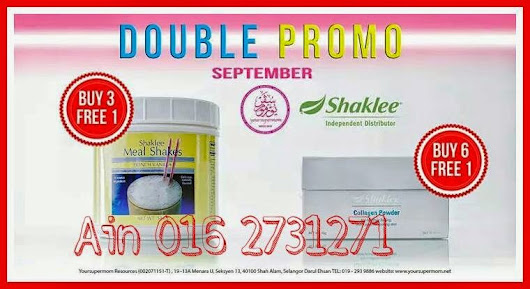 PROMOSI SHAKLEE SEPTEMBER 2014 - MEAL SHAKES & SHAKLEE COLLAGEN POWDER | Zahra Amani Official Blog