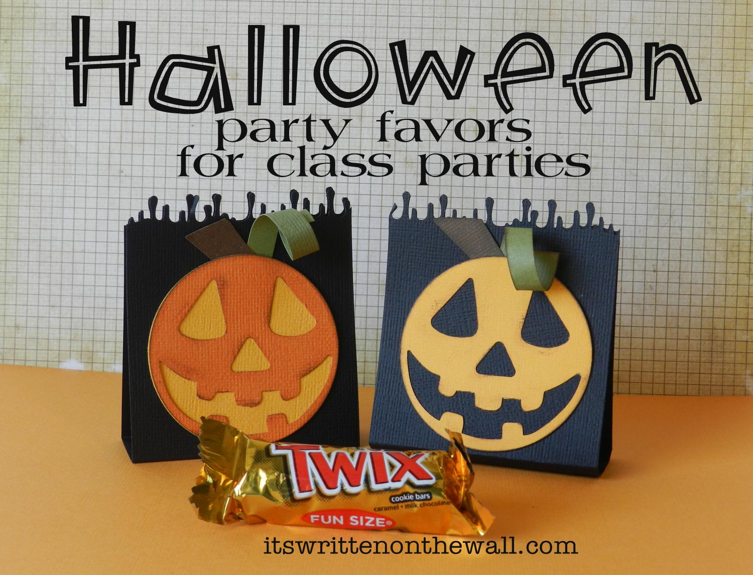 It's Written on the Wall: Part 4 Halloween Party Favors-The ...