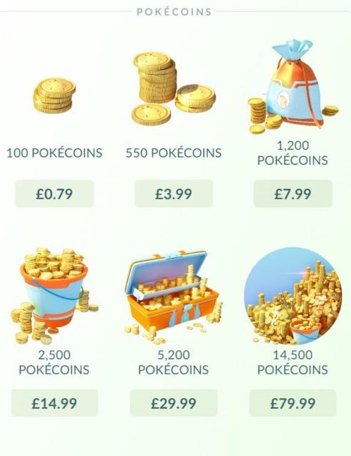 Pikachu Gold Pokecoins