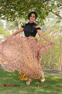 Actress Chetana Uttej Stills in Floral Long Skirt at Pichiga Nachav Movie Press Meet  0119.JPG