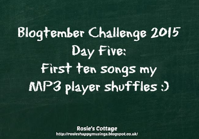 Blogtember Challenge 2015 Day 5 Music