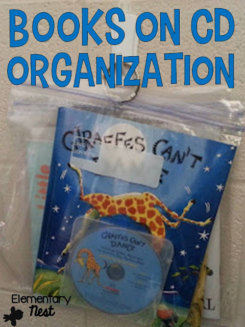 Classroom organization- tips on how to organize your books on CD for Listen to Reading during Daily 5