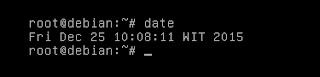 penggunaan perintah date debian