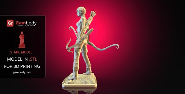 Lara Croft 3d design
