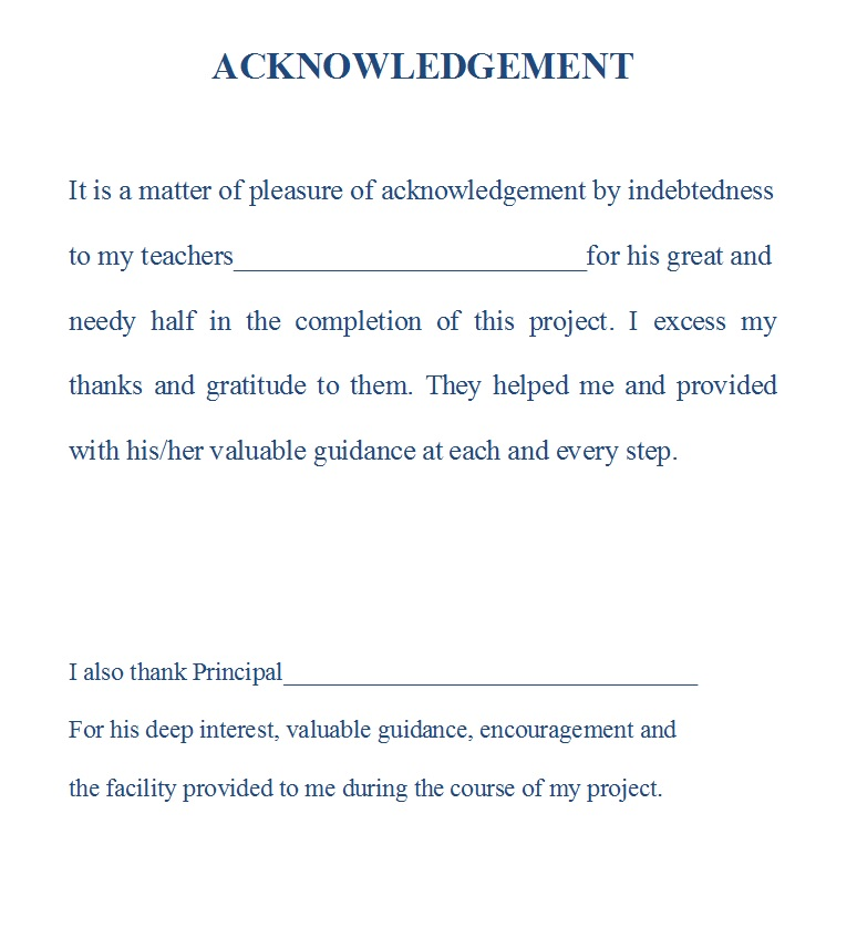 project thesis acknowledgement Acknowledgement 110 acknowledgements at the end of my thesis i would like to thank papst and frau daniela tabor for their technical assistance to my project.