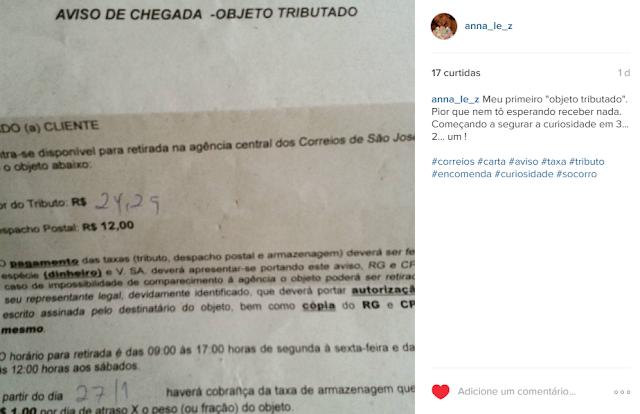 Correios Brasil Taxa