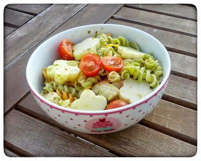 Salade de Torsades colorés au Poulet et au Pesto