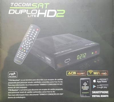 TOCOMSAT DUPLO LITE HD 2 ATUALIZAÇÃO  V 1.00
