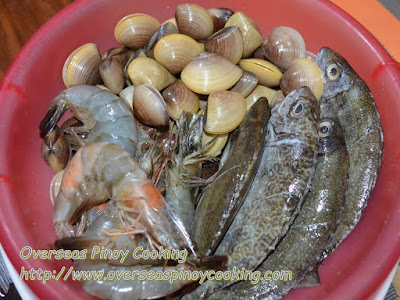 Seafood Tinowa Ingredients