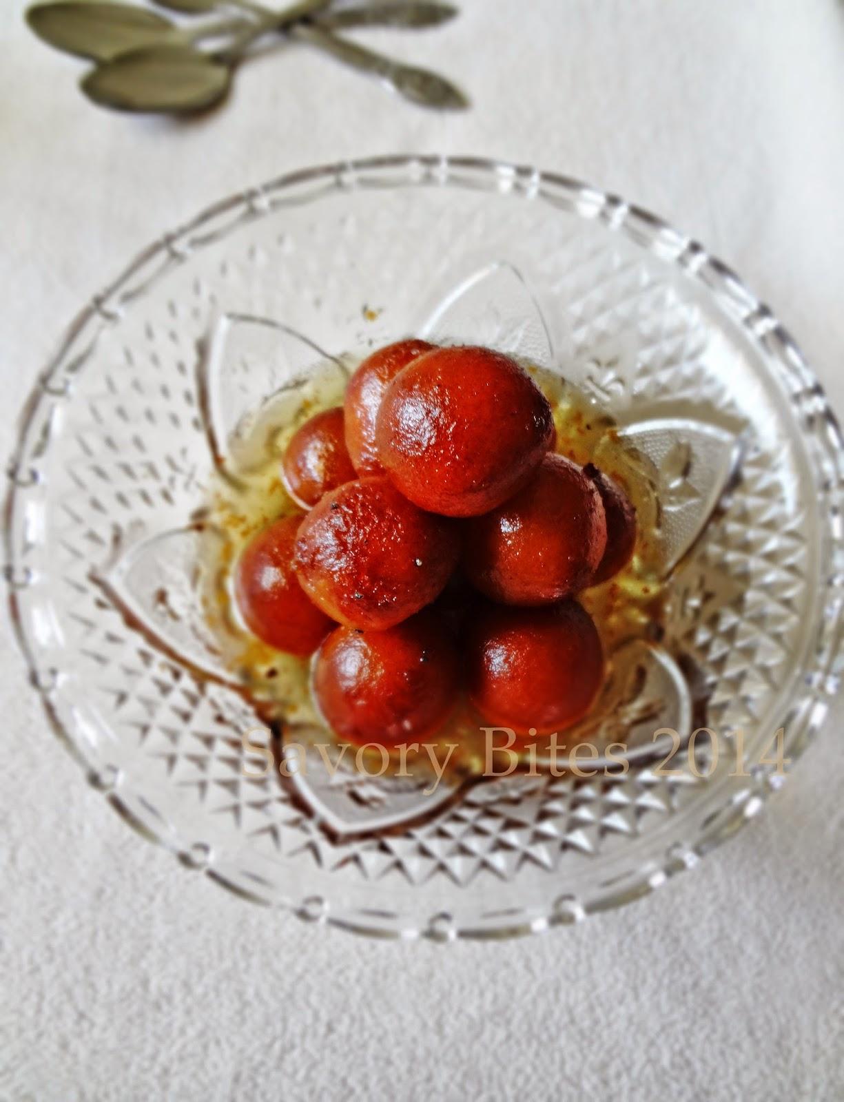 Khoya Mawa Gulab Jamun Indian Sweet Festive Sweet