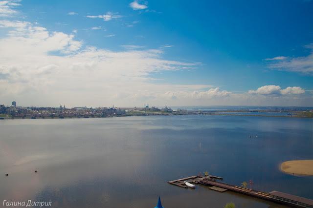 Вид на Кремль с отеля Ривьера Казань