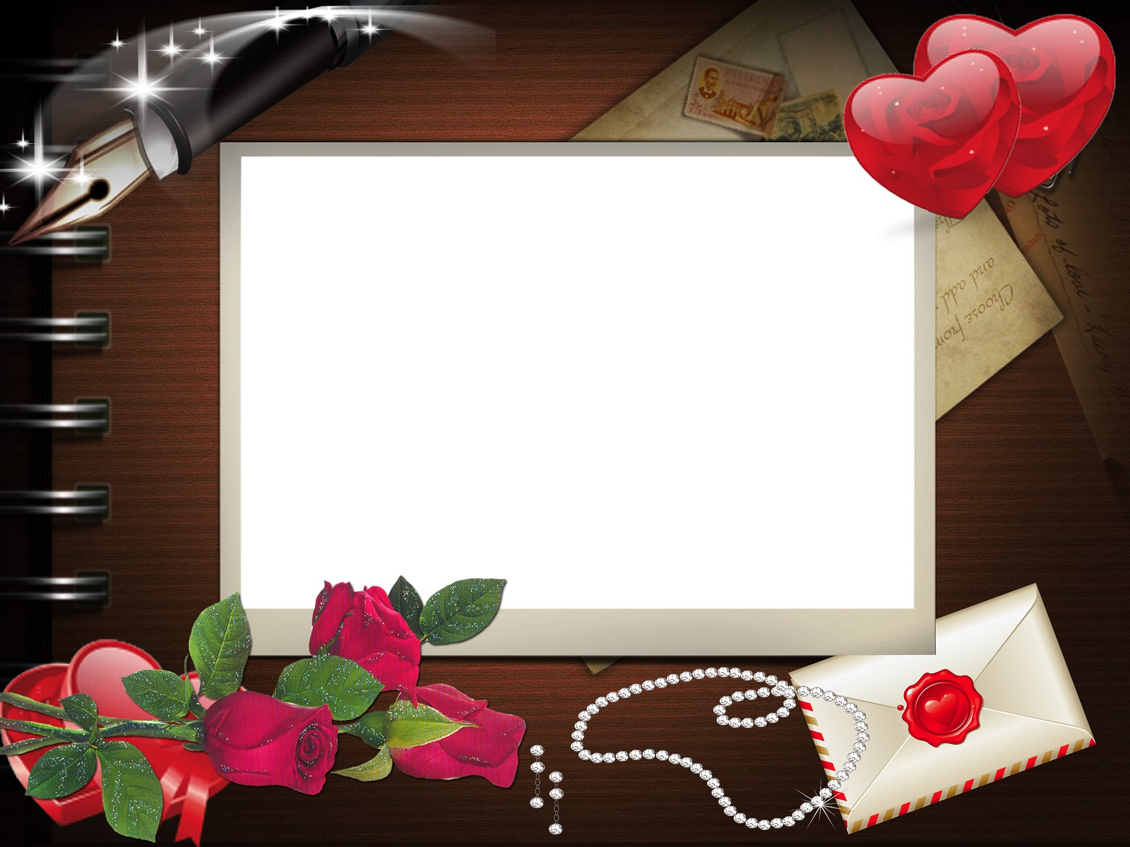 Picture Frame Love Wallpaper: Photoshop Frames Wallpapers Free Downloads