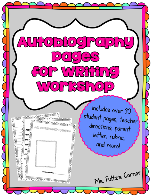 autobiography cover page template - autobiography writing for 2nd grade 1000 ideas about