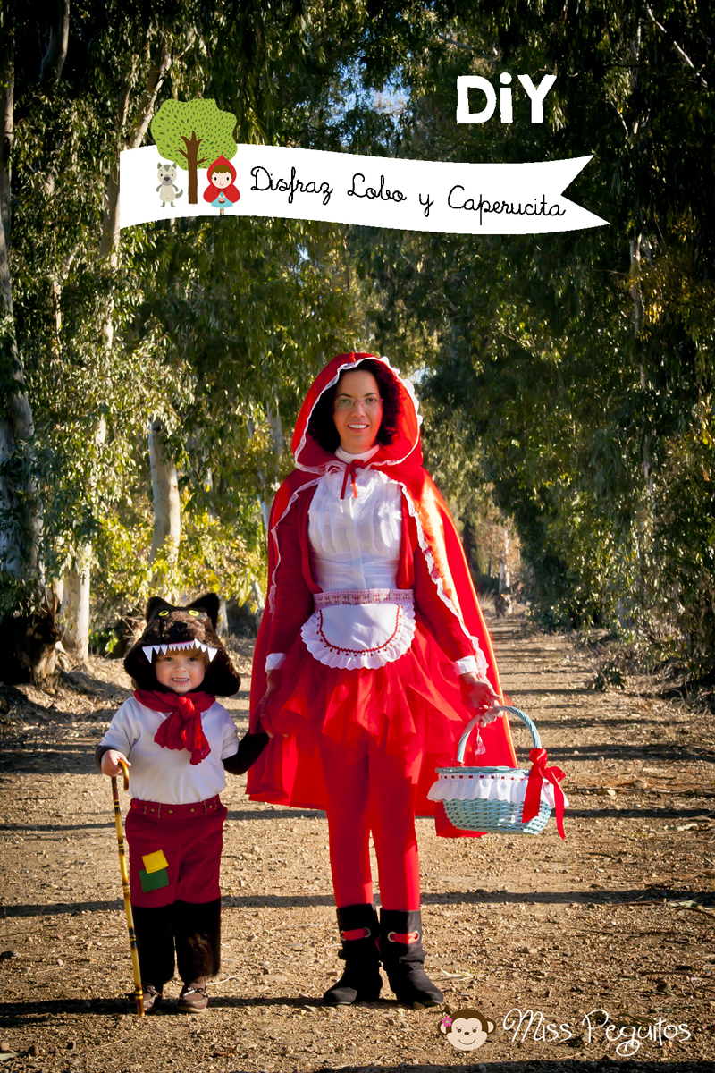 DiY Disfraz de lobo y Caperucita roja