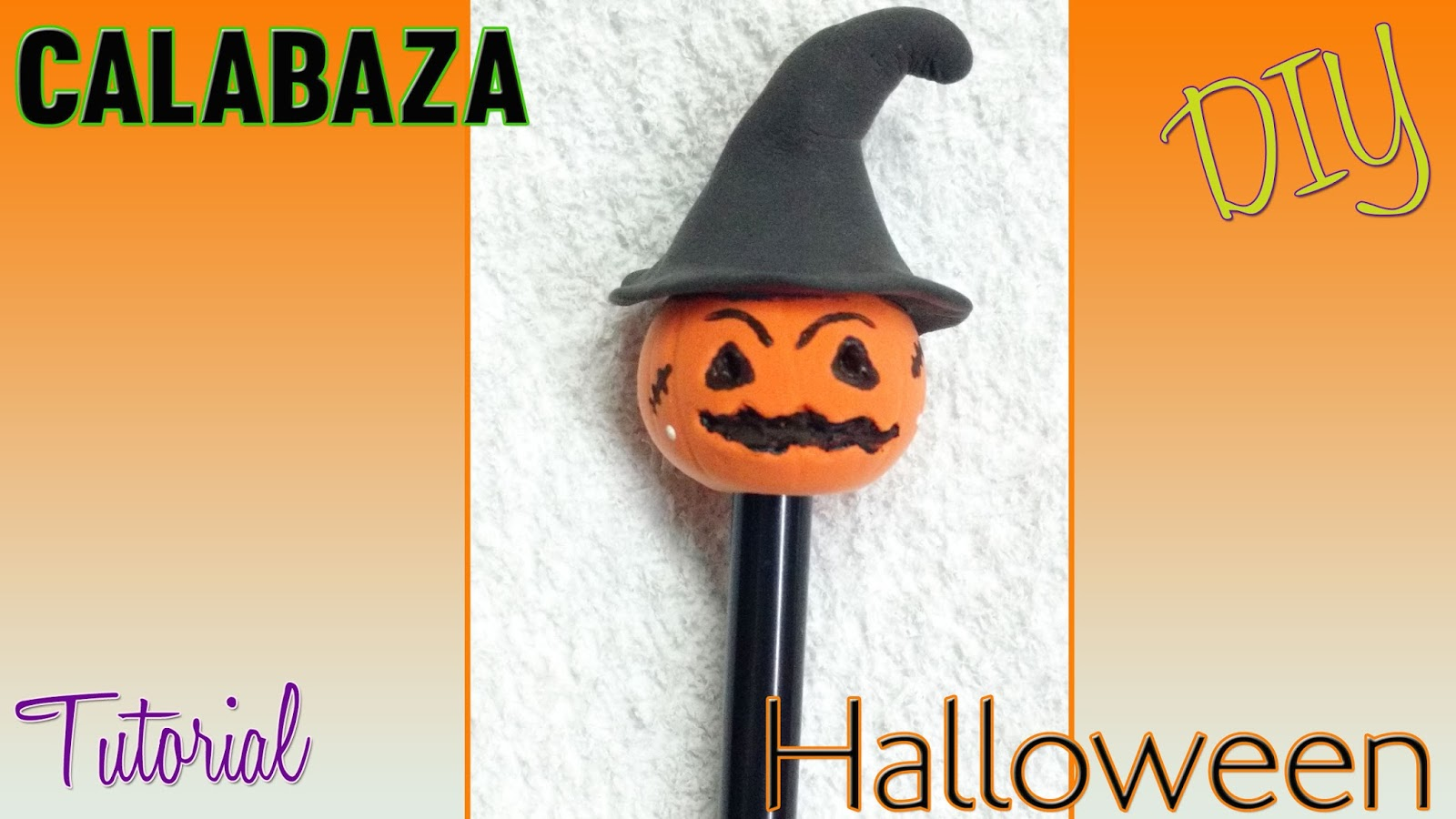 Calabaza Decorada Tutorial Pluma Decorada Con Calabaza Halloween En