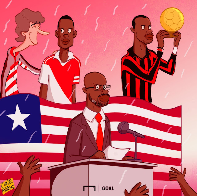 President George Weah cartoon