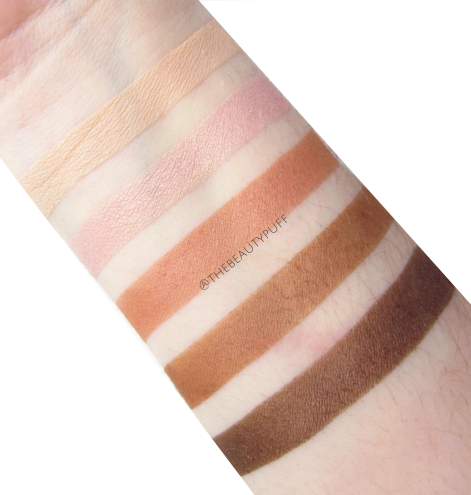 colorescience beauty on the go swatches | the beauty puff