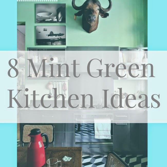 Stranger Than Vintage: Interior Design: Mint Green Kitchens