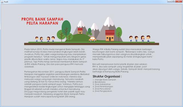 Form Profil Bank Sampah