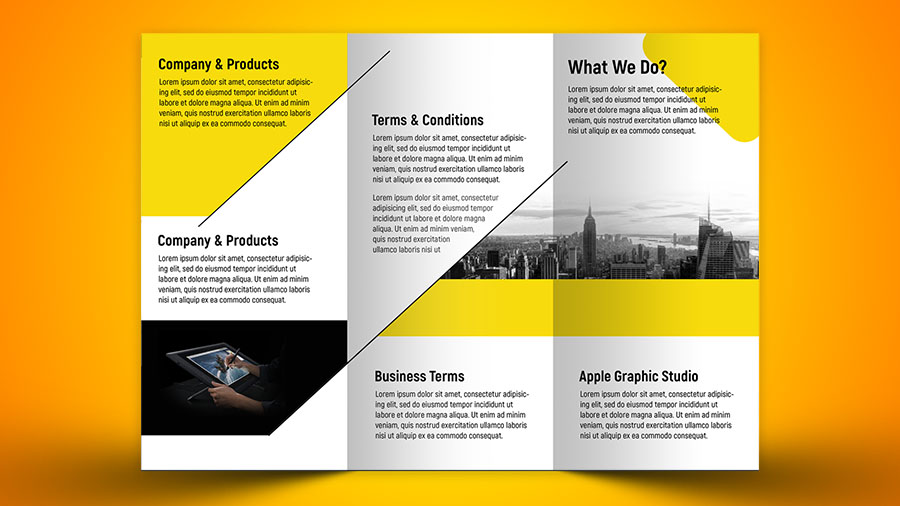 Make a Business Tri Fold Brochure in Photoshop CC - Apple Graphic Studio