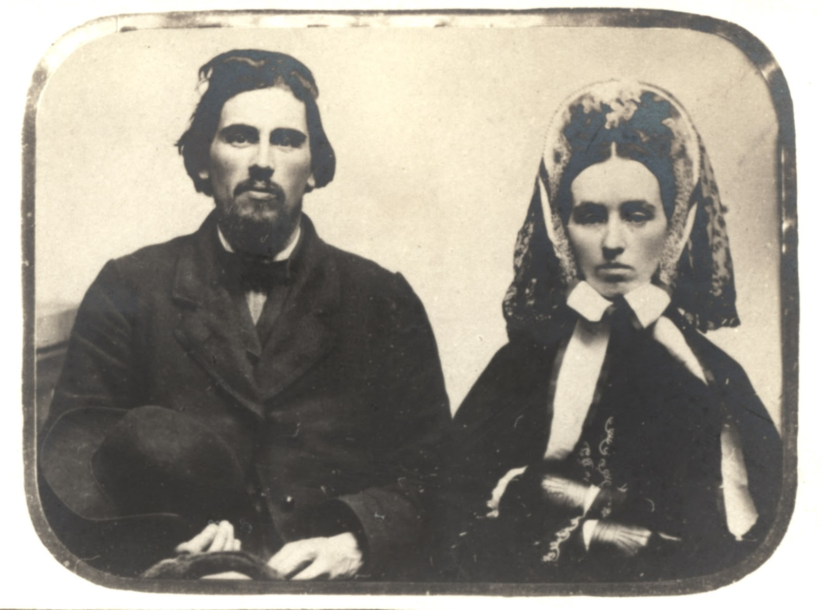 Oscar & Metta (Bristol) Babcock. Wedding Photo June 1858