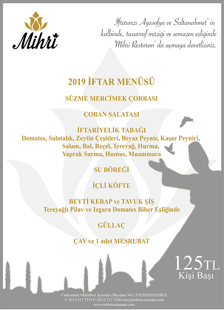 mihri restaurant sultanahmet nasıl gidlir sultanahmet iftar 2019 sultanahmet iftar yerleri