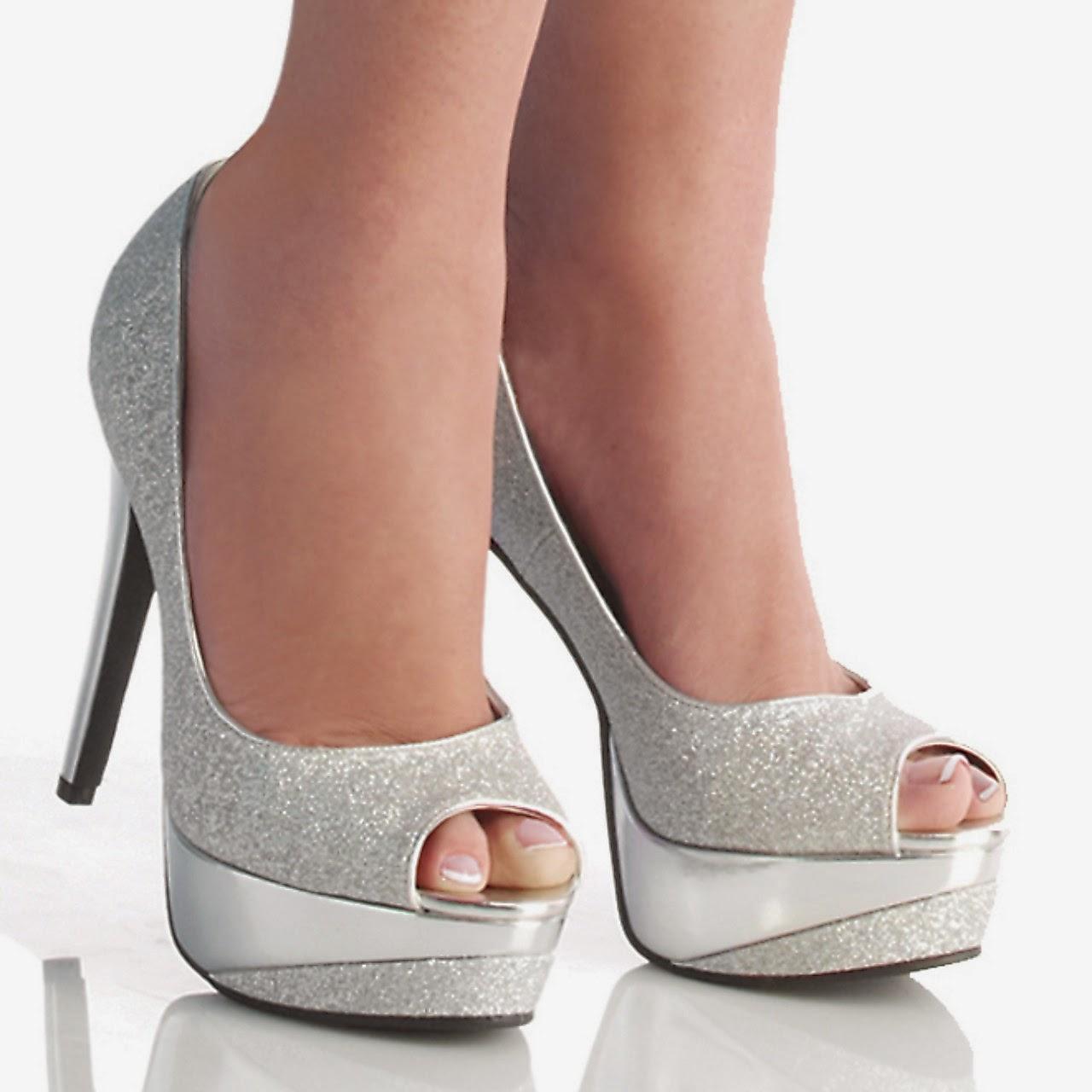 Lindos zapatos de fiesta de tac n alto dise os for Diseno de zapatos