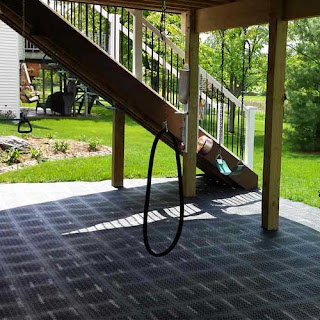 Greatmats Staylock Perforated Plastic Tile Patio Floor