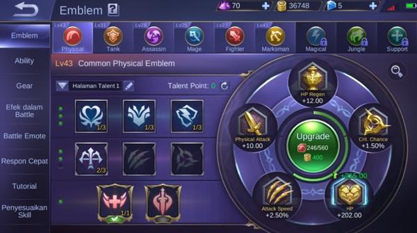 Emblem Yang Cocok Untuk Belerick Si Hero Mobile Legends