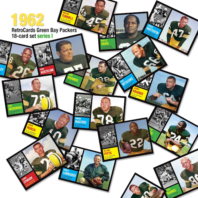 RetroCards, custom cards that never were, Topps, Green Bay Packers