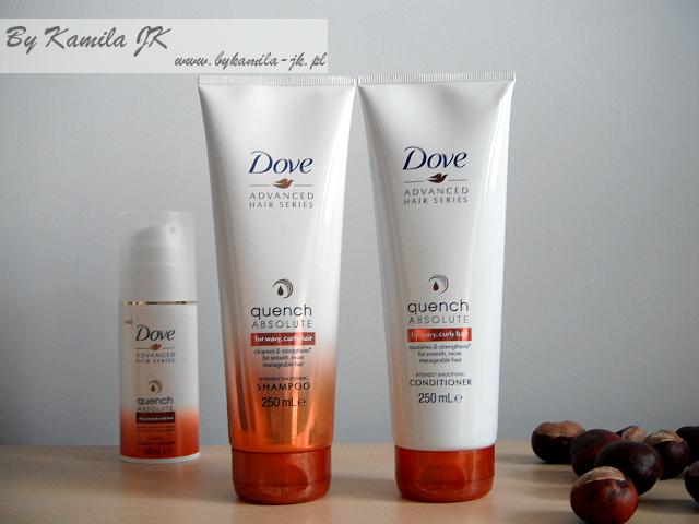 Dove Quench absolute szampon odżywka włosy falowane kręcone