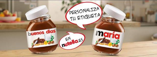 pegatina personalizada nutella