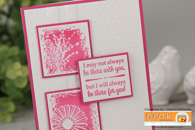 There For You Card by Juliana Michaels featuring Gina K Designs Botanical Blocks Incentive Stamp Set