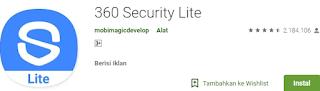 360 security lite aplikasi pembersih hp