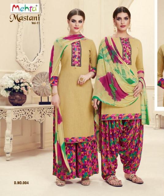 Mastani Patiyala vol 11 Mehta Flora punjabi Dress