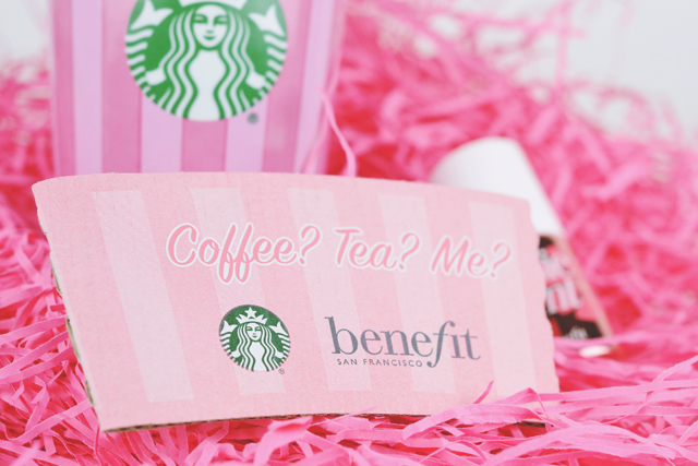 Benefit Cosmetics Starbucks Sleeve