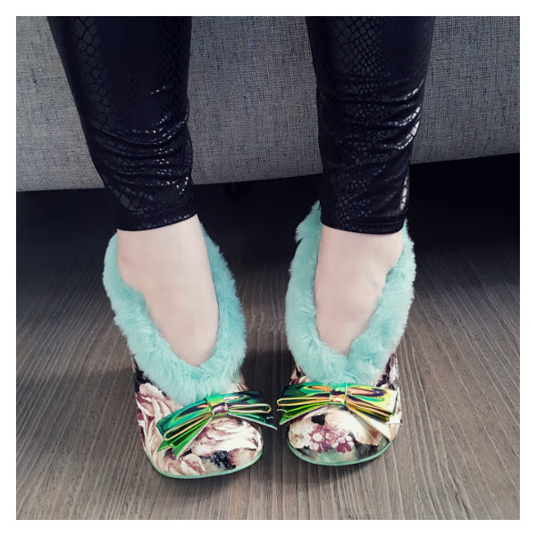 wearing irregular choice mint green furry o nutty