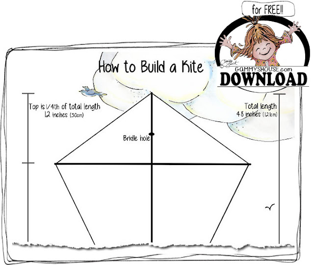free digital download how to build a kite illustration