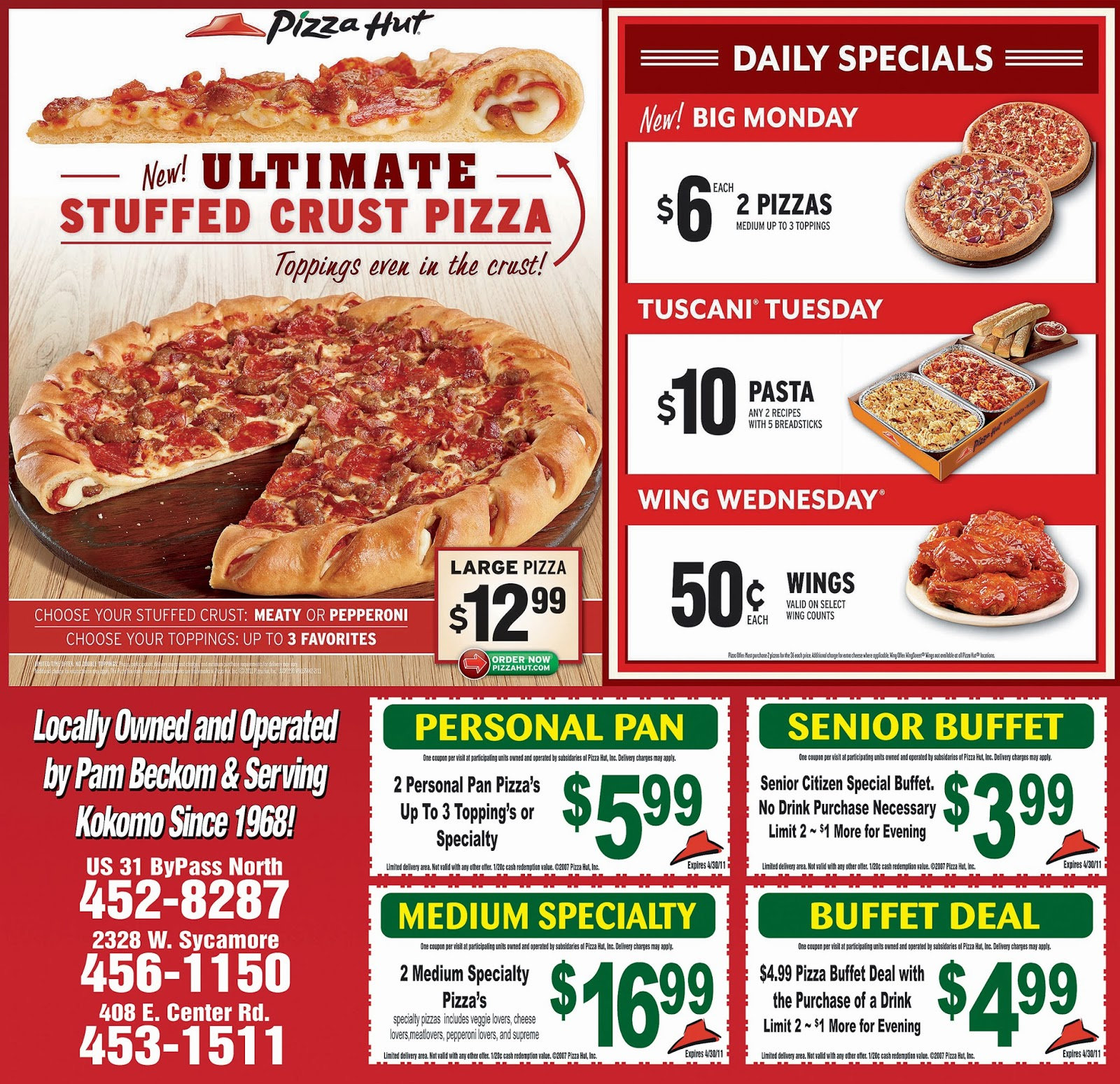 real coupons for pizza hut