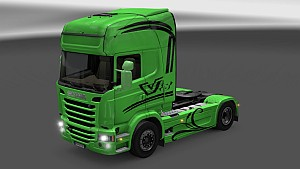 Green Griffin' V8 paint for Scania Streamline