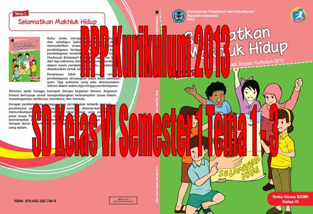 Download RPP Kurikulum 2013 SD Kelas VI Semester 1 Tema 1 - 3 Format Microsoft Word