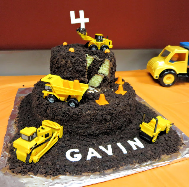 Construction Site & Vehicle Dirt Cake - Surprise Inside Cake