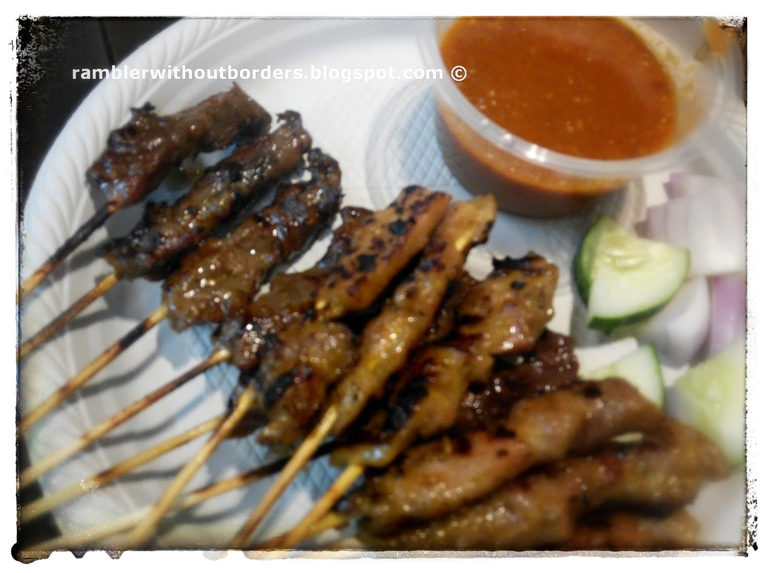 chicken and beef satay sticks