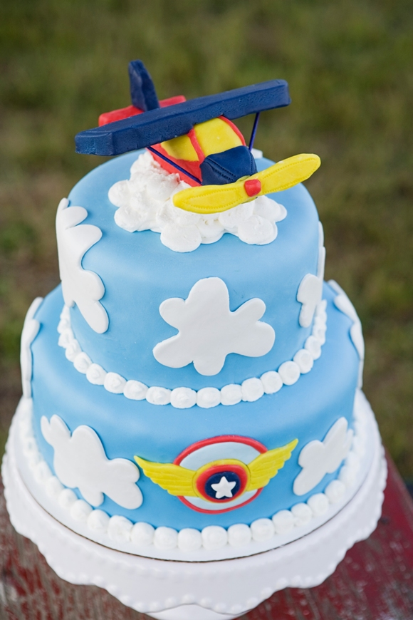 Little Aviator Airplane Inspired Birthday Party Ideas Cake